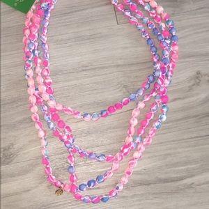 🌺Lilly Pulitzer fabric necklace/ bracelet🌺